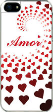 iPhone 5 Graduated Heart Amor Spanish I Love you Design Sticker on Hard Case