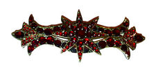 Vintage Bohemian Garnet Star Bar Pin / Brooch / Victorian