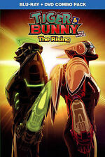 Tiger & Bunny The Movie: The Rising (Blu-ray/DVD, 2015, 2-Disc) w/slipcover, NEW