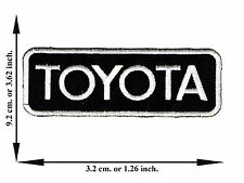 Black + White Toyota Car Automobile Motorsport Logo Applique Iron on Patch Sew