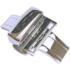 18mm Hadley-Roma BKL100 Stainless Steel Silver Butterfly Deployant Clasp Buckle