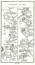 Antique map, Road from Dublin to Cork (2)