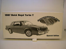 GMP 1:18 SCALE DIECAST METAL DARK BLUE 1987 BUICK REGAL TURBO T