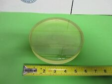 OPTICAL LARGE PLANO CONCAVE LENS PHOSPHATE GLASS [chipped] OPTICS BIN#58-04