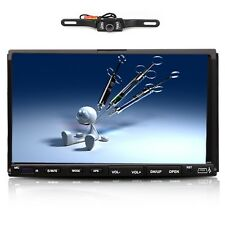 "7"" Touch Double 2Din In-dash Car Stereo Radio Mp3 CD DVD Player+Free Camera USA"