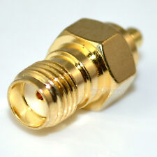 SMA female JACK to MMCX male plug straight adapter
