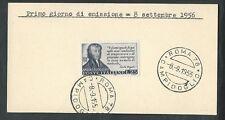 1956 ITALIA FDC AVOGADRO - FRANCOBOLLO APPLICATO SU CARTONCINO - 2