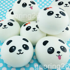 10cm Squishy Charms Buns Cell Phone Charm Kawaii Jumbo Panda Bag Strap Pendant