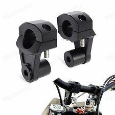 Black 1 1/8'' 28mm Handlebar Riser Clamp CNC for BMW Yamaha Triumph Ducati KTM