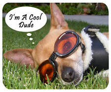 Cool Dude Chihuahua Dog Mouse Mat - I'm a Cool Dude