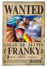 POSTER ONE PIECE RUFY ZORO NAMI WANTED GRANDE FRANKY #4