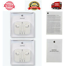 2 x OEM Genuine Apple iPhone 5S 5 6S 6 Plus EarPods Earphones w/ Mic RETAIL