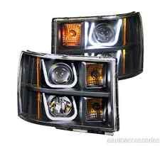Black Clear U-Bar Projector Headlights fits Sierra 1500/2500/3500 Anzo 111284