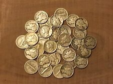Over (1/4) TROY POUND LB BAG Mercury Dimes-90% SILVER COINS-US MINTED-No Junk!