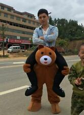 Ride on Teddy Bear  mascot costume Carry Me Fancy dress pants