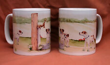 "PARSON RUSSELL TERRIER DOG mug ""Off to the DOG Show"" Sandra Coen artist print"