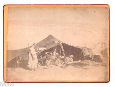 B376 Original Photo vintage Afrique désert fusil tente albumen