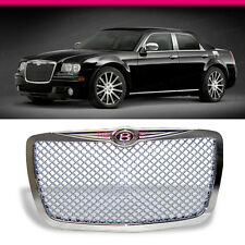 FIT FOR 04-10 CHRYSLER 300 300C CHROME VIP MESH B STYLE FRONT HOOD GRILLE