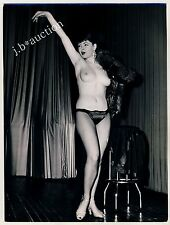 NUDE STRIPPER / NACKTE STRIPPERIN * Vintage Notice Photo SEUFERT Aushangfoto #9