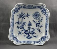 "Meissen China Blue Onion Square Bowl 7"" 2nd Quality (B) Cross Swords"