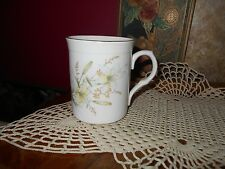 Crown Trent Fine Bone China Yellow Floral Flowers Mug Cup Staffordshire England