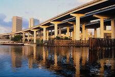 562012Perfect Blend Of Highways And Canals Downtown Miami A4 Photo Print