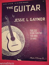 The Guitar 1921 Sheet Music Piano Solo for Beginners Jessie Gaynor