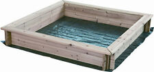 HIKS® Wooden Sandpit 95 X95 Ideal For Kids / Childrens Outdoor Play (Free Cover)