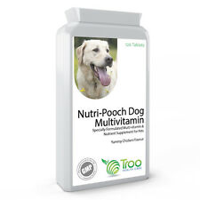 Multi Vitamin for Dogs 120 Chicken Flavour Chewable Tablets Pet Health Support