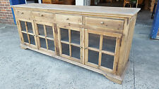 NEW PROVINCIAL INDUSTRIAL RUSTIC BUFFET SIDEBOARD CUPBOARD HALL TABLE (111-485)