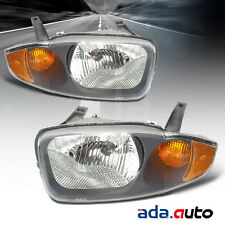 2003 2004 2005 Chevy Cavalier Chrome Headlights Replacement Lamps Pair