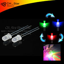 100pcs Diffused Slow Flash  LED 5mm RGB 2 pin Automatically flashing led Diodes