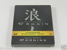 47 Ronin (3D+2D) Blu-ray Steelbook [Czech] RARE REGION FREE!!! ENGLISH AUDIO!!!
