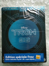 Tron Legacy L'Heritage Fnac French 3D + Blu Ray Steelbook France - New Sealed