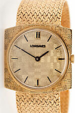 Vintage 1950s $8000 Longines Mens Dress 14k Yellow Gold Watch MINTY 60g WARRANTY