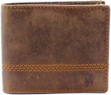 Starhide Mens RFID BLOCKING Distressed Brown Genuine Leather Bifold Wallet #1150