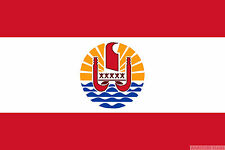 "FRENCH POLYNESIA 18"" x 12"" FLAG suitable for Boats Caravans Treehouses flags"