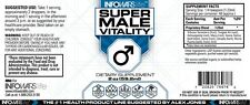 "Alex Jones Infowars LIFE™ ""Super Male Vitality"" men's health item 2 oz. bottle."