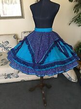 Square Dance / Western Dress/ SKIRT ONLY /Purple/ Turquoise Blue