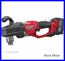 """New Milwaukee 2707-22 M18 FUEL HOLE HAWG 1/2"""" Right Angle Drill Kit Free Ship"""