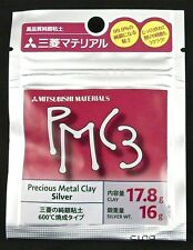 F/S 17.8g Mitsubishi PMC3 Precious Metal Clay Silver Art Clay Pack 16g Weight