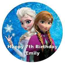 "Frozen Anna And Elsa Personalised Cake Topper 7.5"" Edible Wafer Paper"