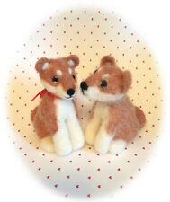 TUTORIAL NEEDLE FELTING KIT DOG SHIBA INU PUPPY WOOL NEEDLE  NEW IN THE PACKAGE