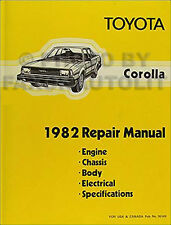 1982 Toyota Corolla Shop Manual Original Repair Service Book OEM SR5 DLX