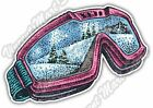 "Ski Snowboard Snowboarding Snow Goggles Car Bumper Vinyl Sticker Decal 5""X4"""