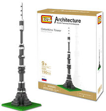 LOZ World Famous Architecture Ostankino Tower Moscow Model Building Block Toy Y8