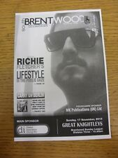 17/11/2013 South Brentwood v Great Knightleys  . Thanks for viewing this item, w