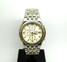 CITIZEN Elegance Chronograph Two-Toned Silver 18K Gold Plate Watch 6870-H14371-K