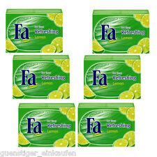 (22,37€/kg) 6x 100g Fa Rafraîchissant Citron Savon Bloc De Lot 3