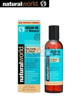 Natural Pure Organic Moroccan Argan Oil Miracle Oil for Body and Face Skin 200ml